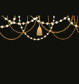 background with golden metallic necklace tassel vector image vector image