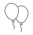 balloons thin line icon air and helium vector image vector image