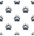 bear claw bear footprint seamless pattern vector image