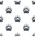 bear claw footprint seamless pattern vector image