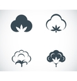 black cotton icons set vector image vector image