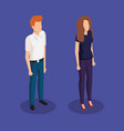 business couple avatars characters vector image vector image