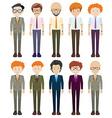 Businessmen in formal clothes vector image