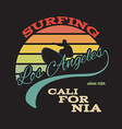 California surf t-shirt graphics vector image vector image