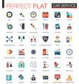 car service complex flat icon concept web vector image vector image