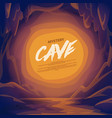 cave landscape mountain scene vector image