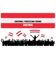 Cheering or Protesting Crowd Austria vector image vector image