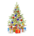 Christmas Fir with Gifts vector image vector image