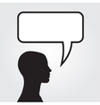Clipart of man with speech bubble vector image vector image