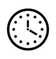 clock gray line icon timer speed alarm vector image
