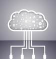 Cloud computing technology abstract concept vector image
