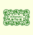 clover label vector image vector image
