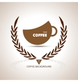 Coffee cup shape cafe menu coffee house menu vector image vector image