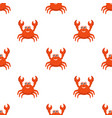 crab cartoon seamless pattern vector image