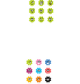 cute bacteria or monster collection vector image