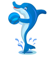 Dolphin with Ball vector image vector image