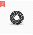 donut food icon simple flat style vector image vector image