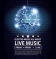 electro music festivas poster vector image vector image