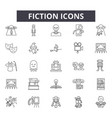 fiction line icons for web and mobile design vector image