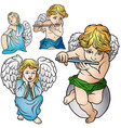 four angels set vector image