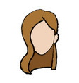 girl avatar people young cartoon vector image vector image