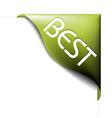 green corner ribbon vector image vector image