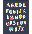 hand drawn alphabet written with brush pen vector image