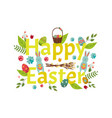 happy easter banner greeting postcard design vector image vector image