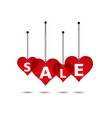 heart sale background vector image vector image