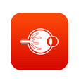 human eyeball icon digital red vector image vector image