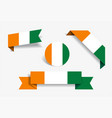 ivorian flag stickers and labels vector image vector image