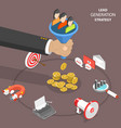 lead generation strategy flat isometric vector image vector image