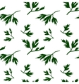 Leaf seamless pattern parsley vector image vector image