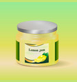 lemon jam in jar vector image vector image