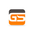 letter gs modern vector image vector image