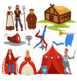 medieval ages peasants and royalty history vector image vector image