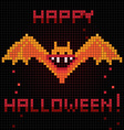pixel halloween bat vector image vector image