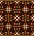red and brown moroccan motif tile pattern vector image vector image