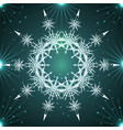 round white mandala snowflakes vector image vector image