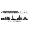 russia saint petersburg flat travel skyline set vector image vector image