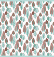 seamless stylish pattern with cute hand drawn vector image vector image