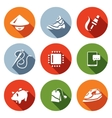 set cheap labor icons shoes vector image vector image