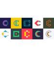 set of letter c logo vector image