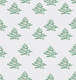 Small trees on a grey vector image vector image