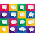 speech bubbles in flat style vector image