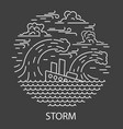 storm natural disaster vector image vector image