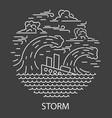 storm natural disaster vector image