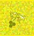 symbol of cute bee vector image vector image
