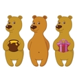 Teddy bears set vector image