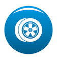 transport icon blue vector image vector image